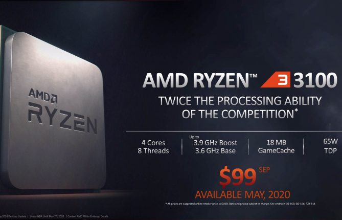 AMD's new Ryzen 3-3100 Overclocking Capabilities